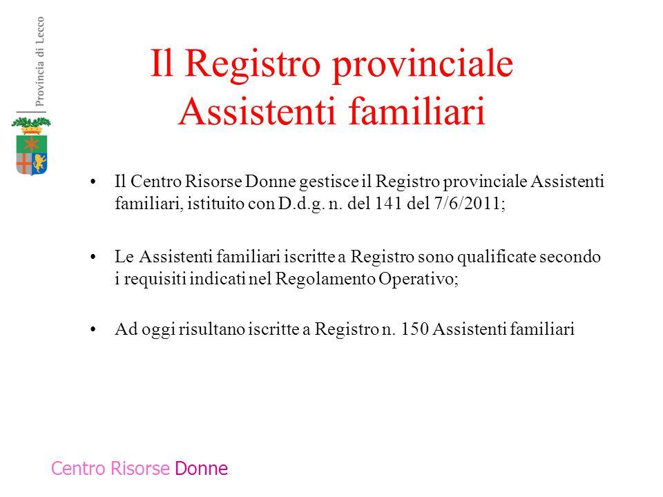 Il Registro provinciale Assistenti familiari