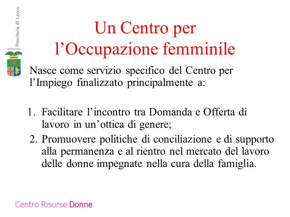 Un Centro per l'Occupazione femminile