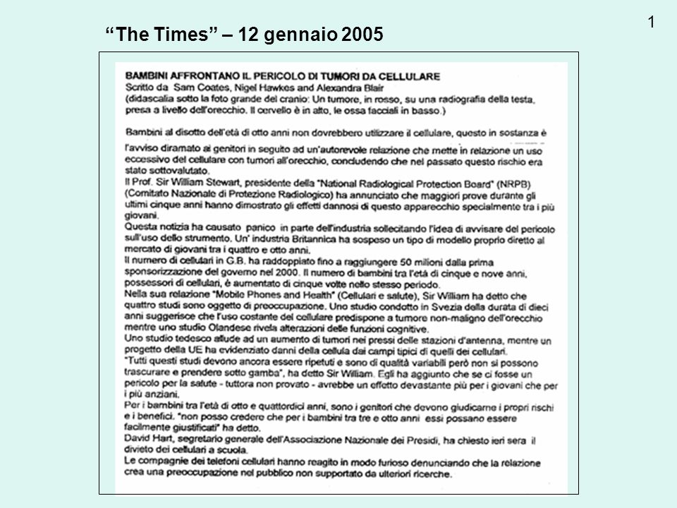 1 The Times – 12 gennaio 2005