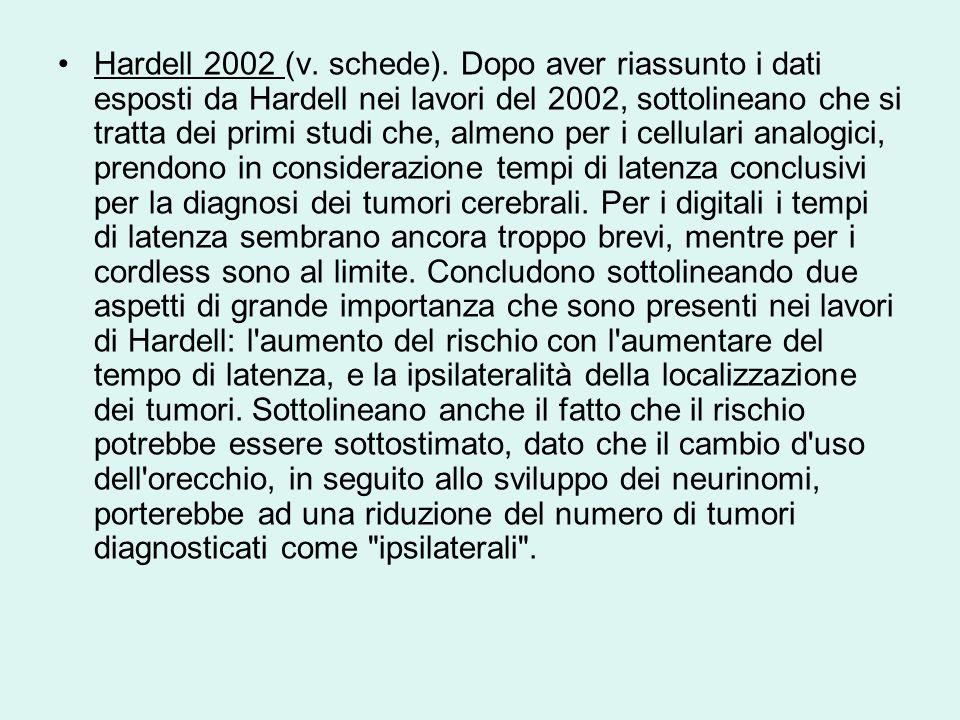 Hardell 2002 (v. schede).