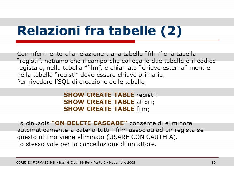 Relazioni fra tabelle (2)