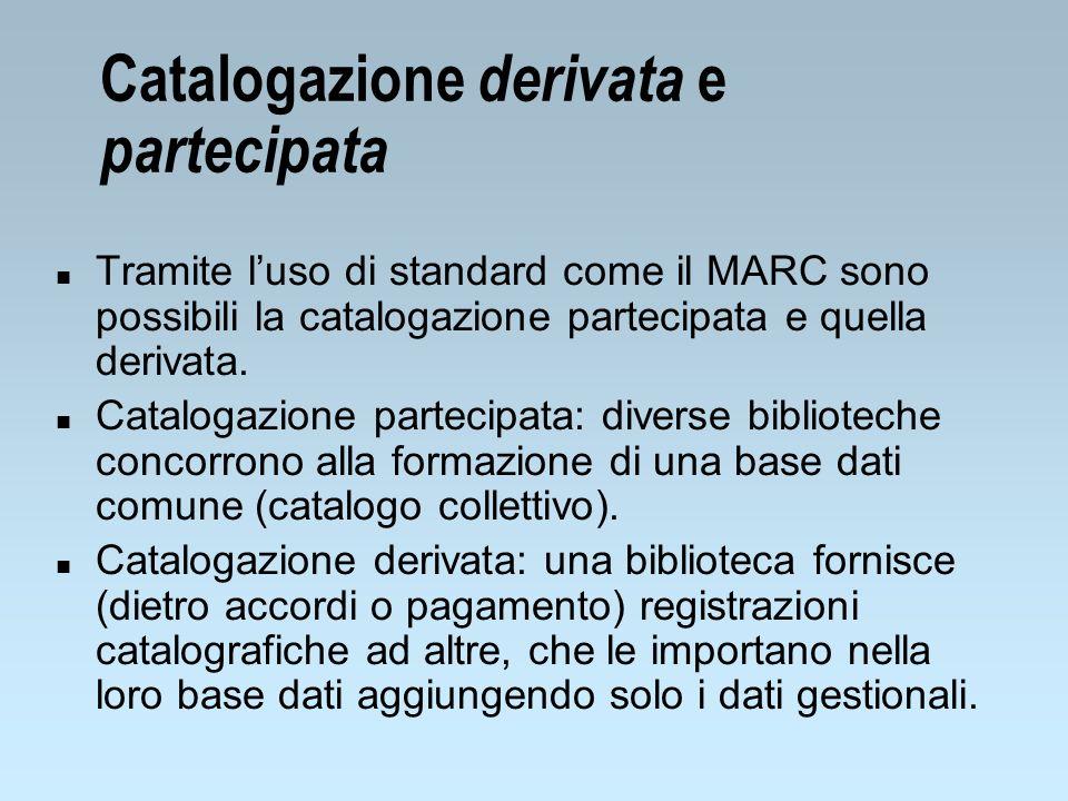 Catalogazione derivata e partecipata