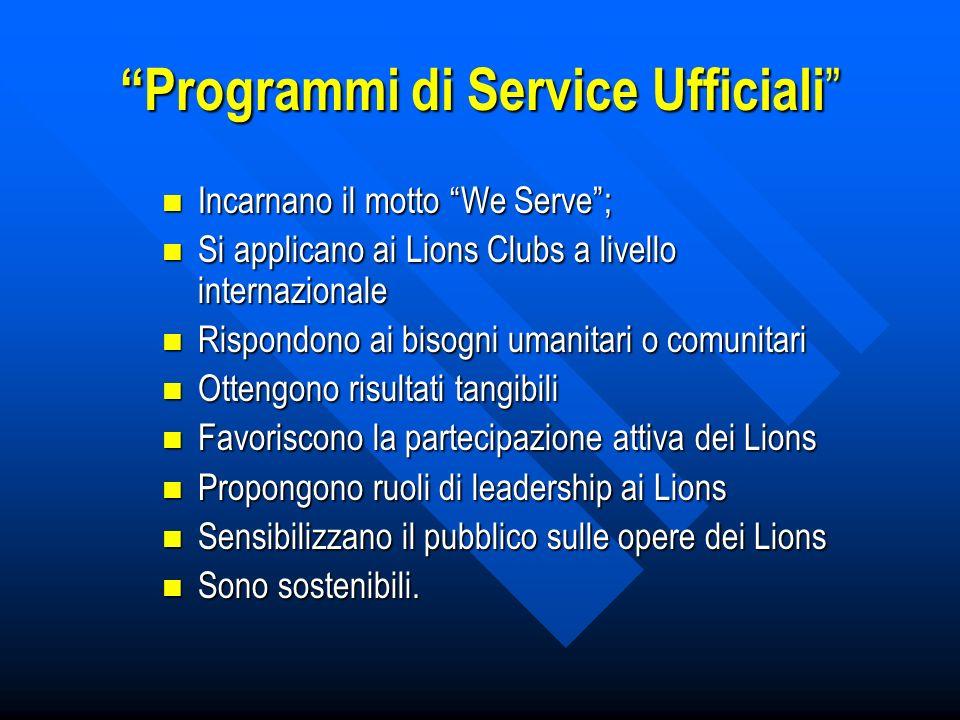 Programmi di Service Ufficiali