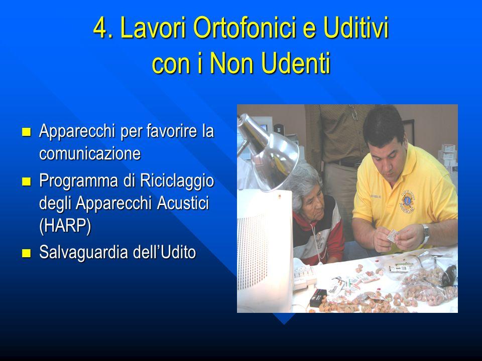 4. Lavori Ortofonici e Uditivi con i Non Udenti