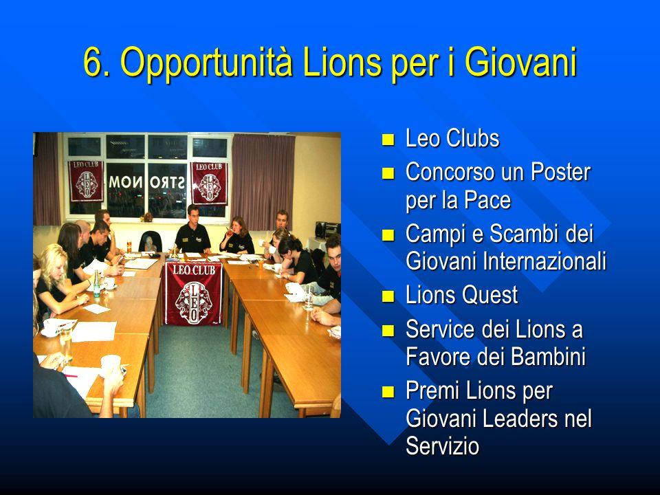 6. Opportunità Lions per i Giovani