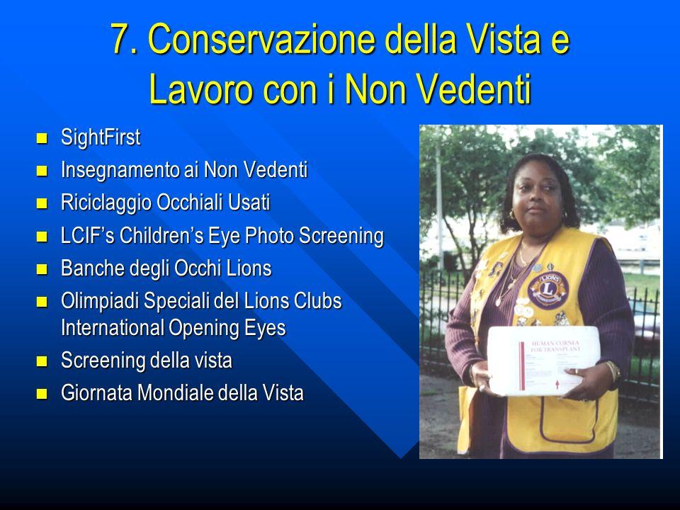 7. Conservazione della Vista e Lavoro con i Non Vedenti