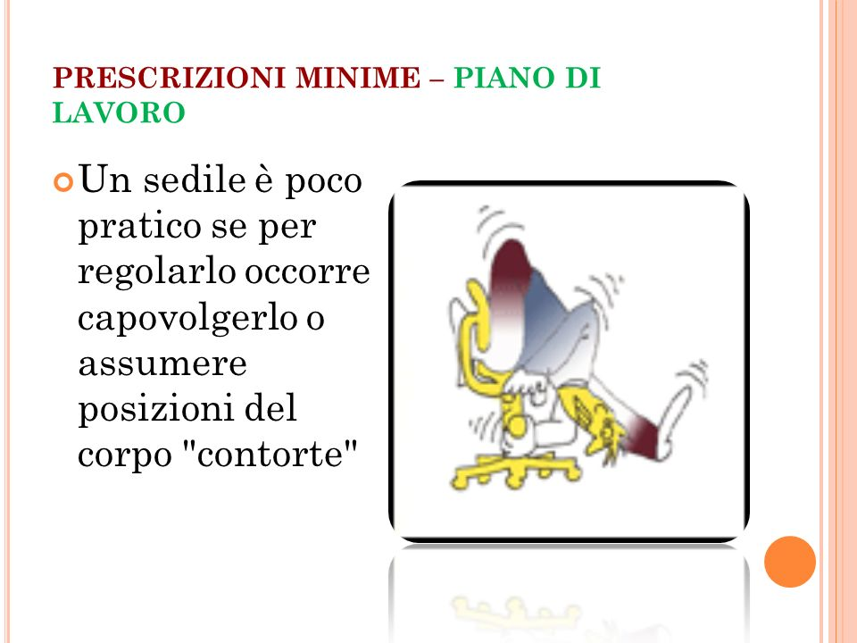 Uso di attrezzature munite di videoterminali ppt video for Pianificatore di piano online