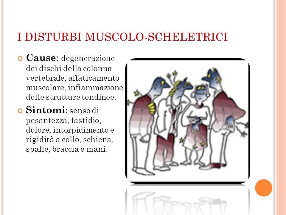 I DISTURBI MUSCOLO-SCHELETRICI