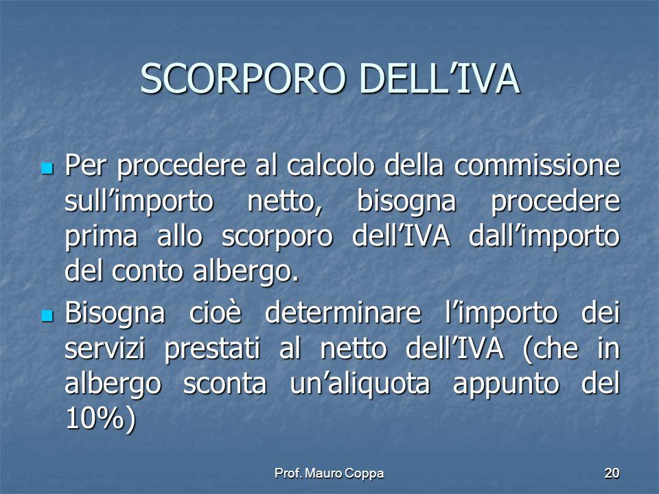SCORPORO DELL'IVA