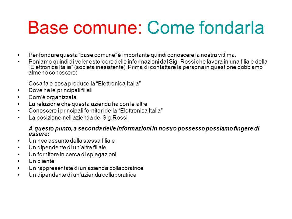 Base comune: Come fondarla