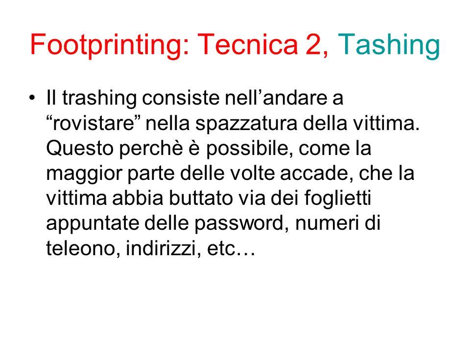 Footprinting: Tecnica 2, Tashing