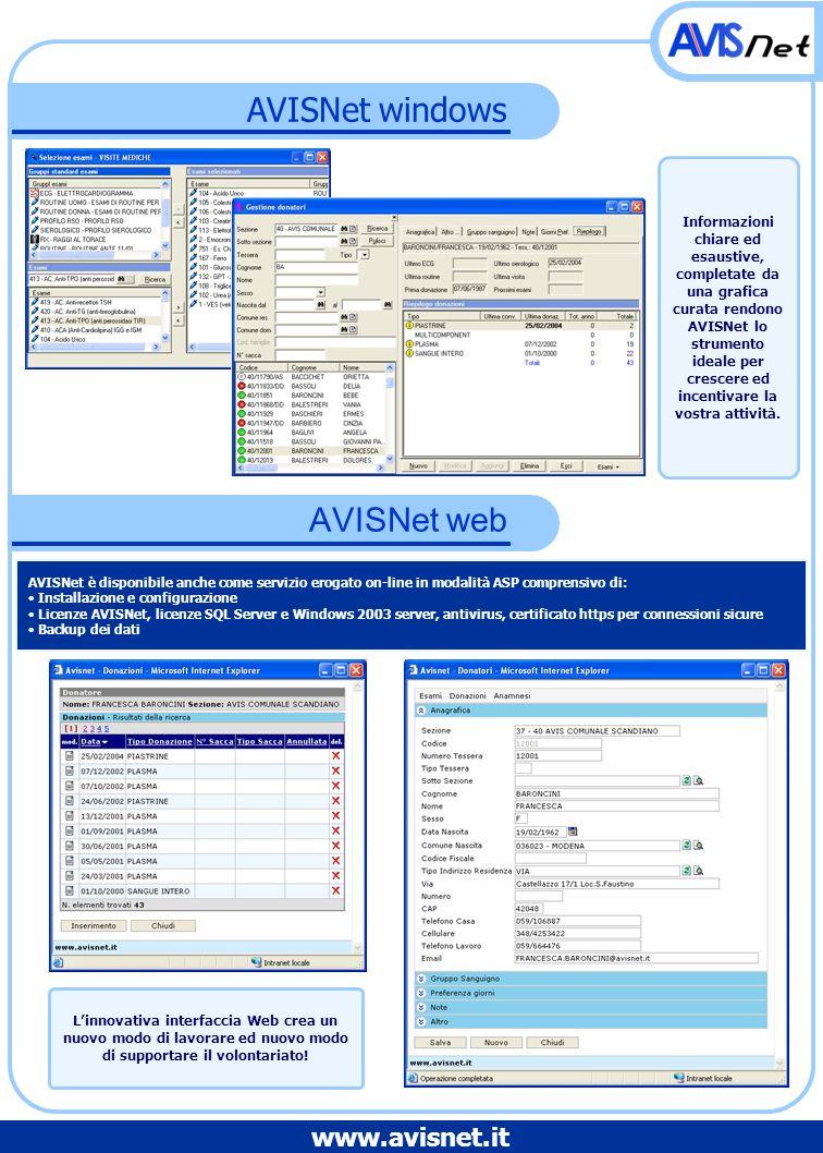 AVISNet windows AVISNet web