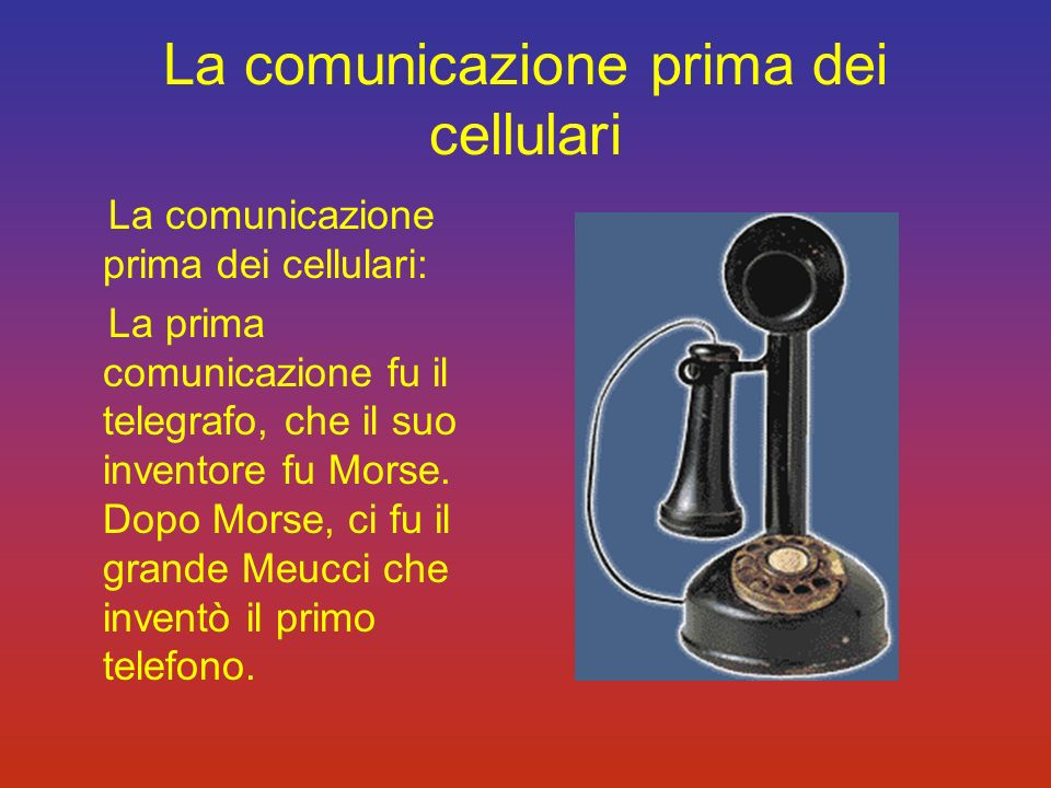 La comunicazione prima dei cellulari