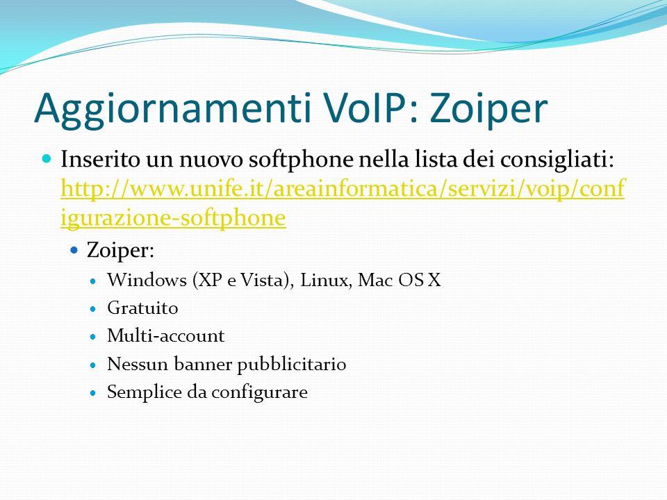 Aggiornamenti VoIP: Zoiper