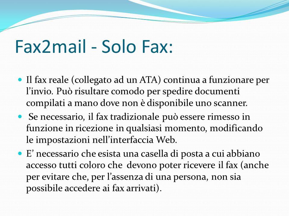 Fax2mail - Solo Fax: