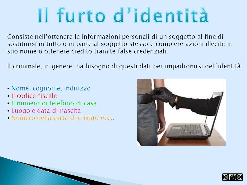 Il furto d'identità