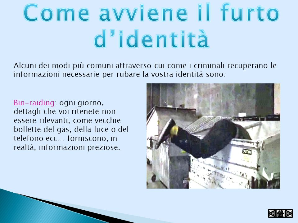 Come avviene il furto d'identità
