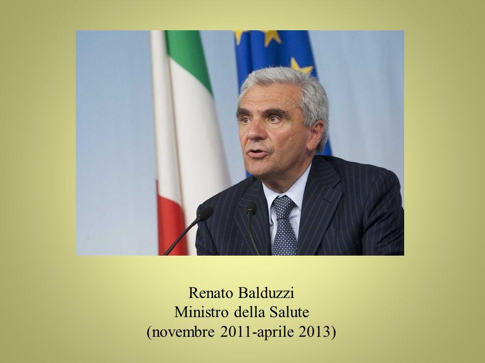 Renato Balduzzi Ministro della Salute (novembre 2011-aprile 2013)