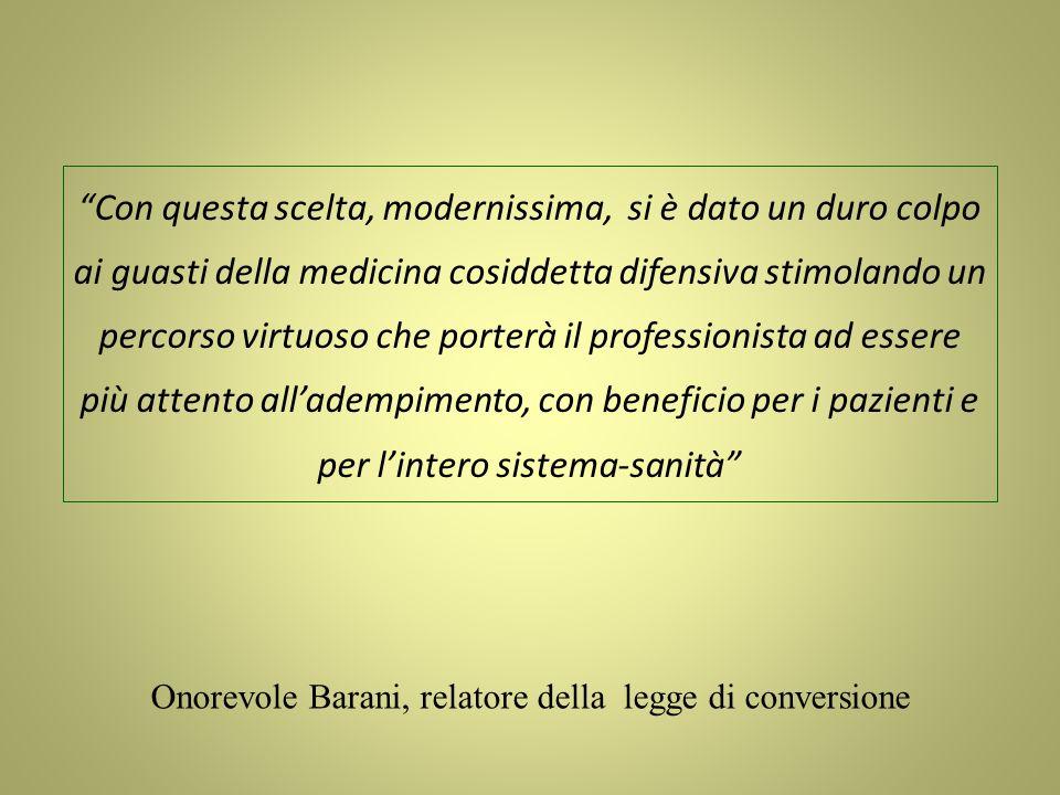 Onorevole Barani, relatore della legge di conversione
