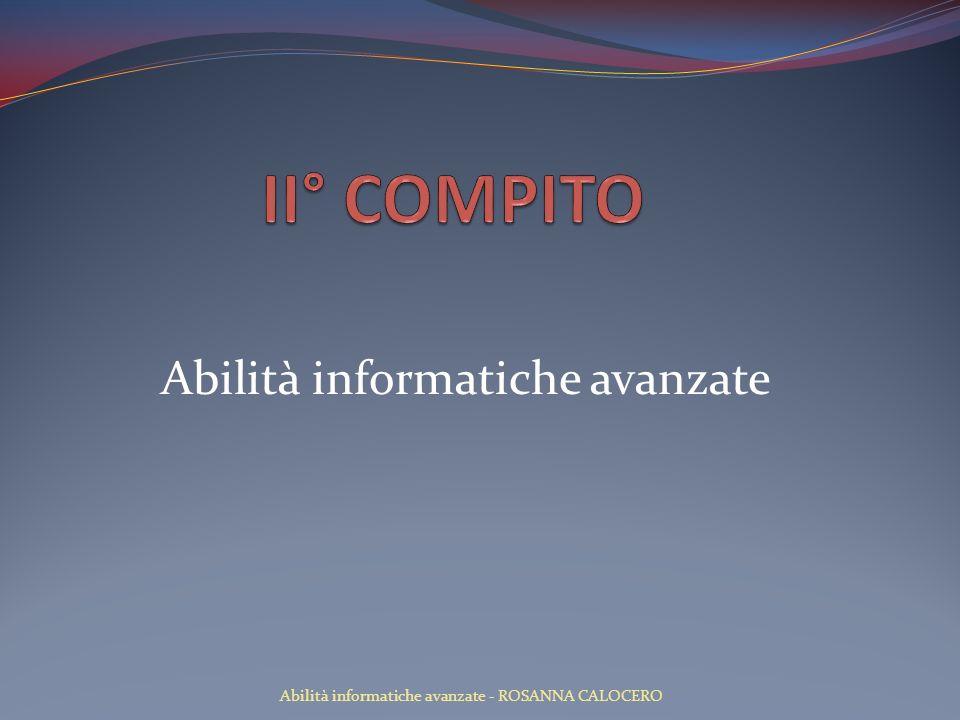 Abilità informatiche avanzate