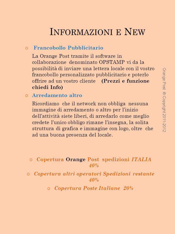 Informazioni e New Francobollo Pubblicitario