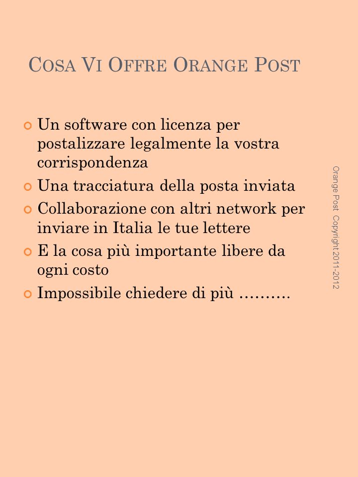 Cosa Vi Offre Orange Post