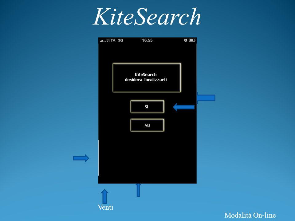 KiteSearch Venti Modalità On-line