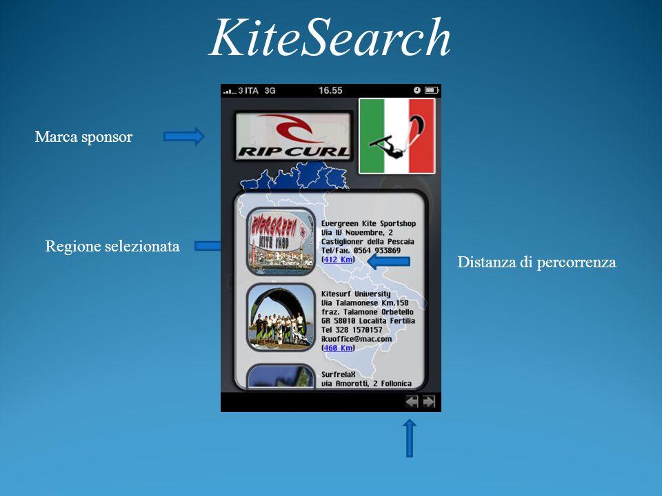 KiteSearch Marca sponsor Regione selezionata Distanza di percorrenza