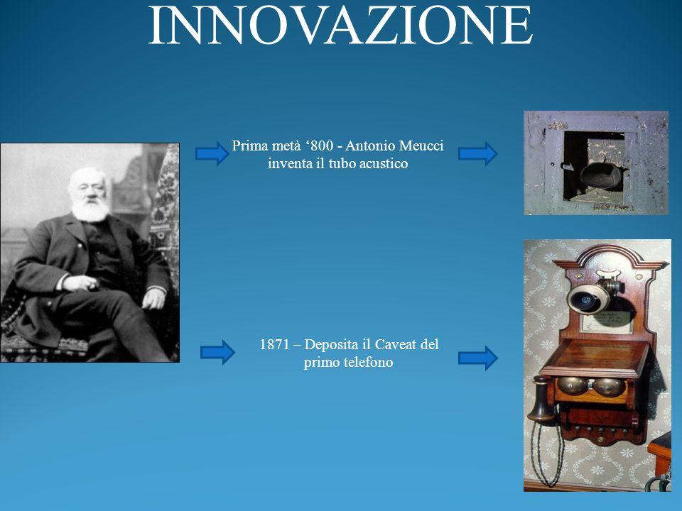 INNOVAZIONE Prima metà '800 - Antonio Meucci inventa il tubo acustico