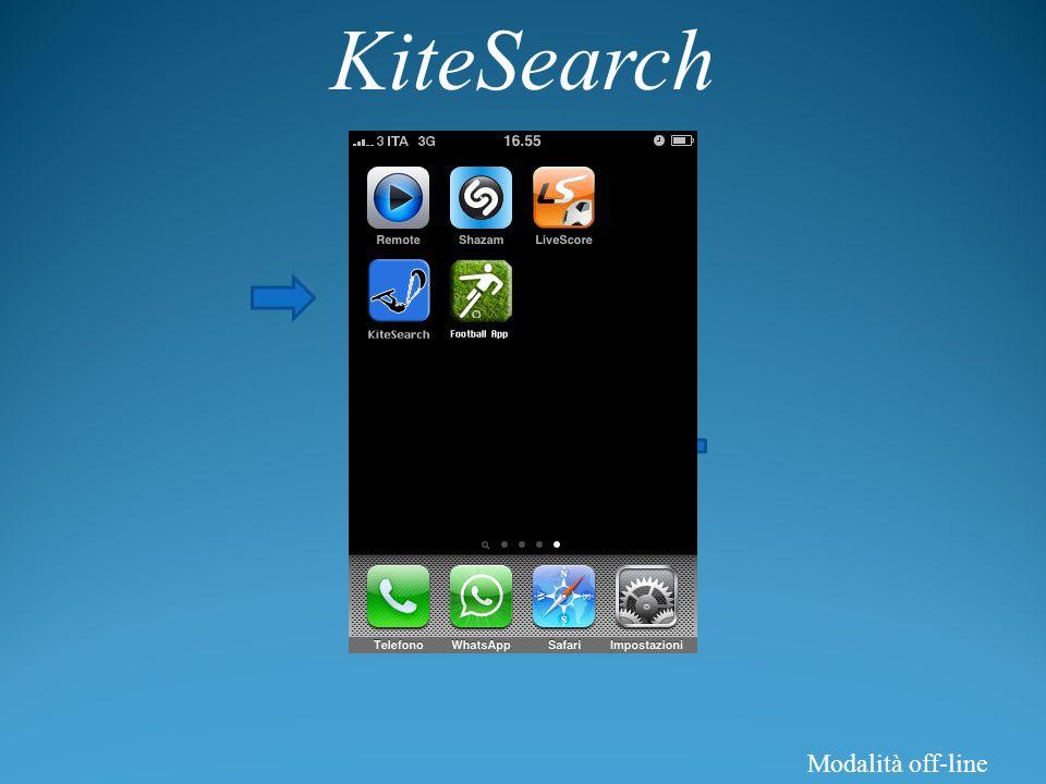 KiteSearch Modalità off-line