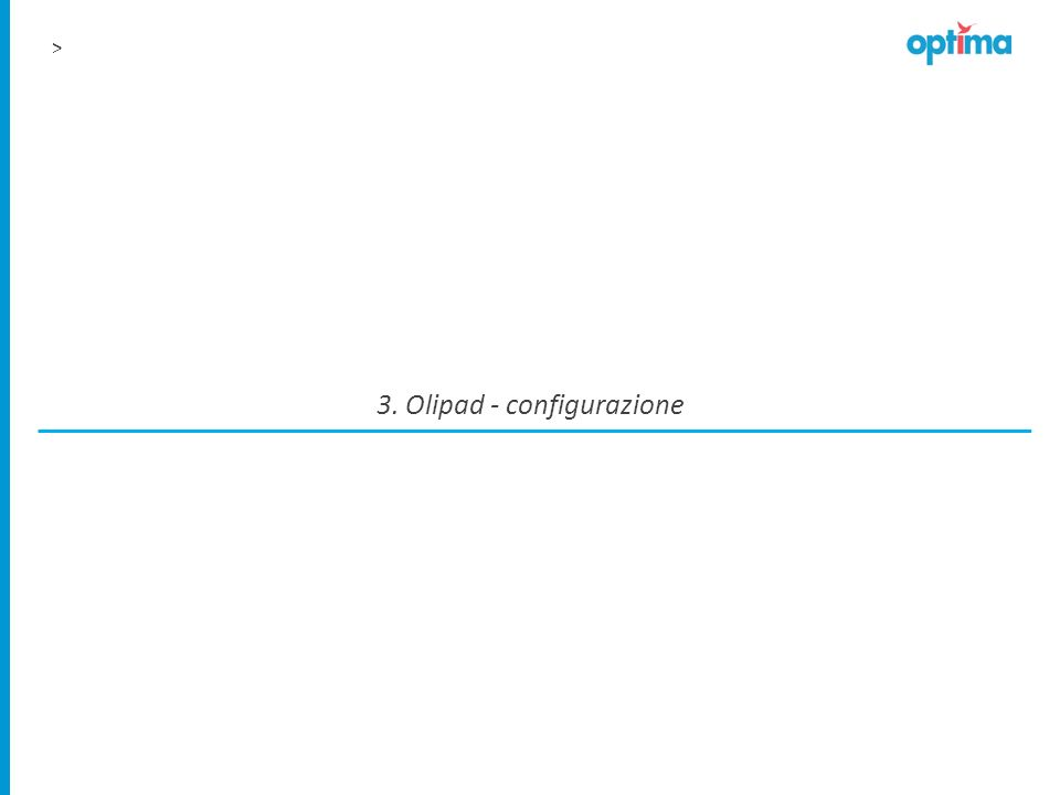 3. Olipad - configurazione