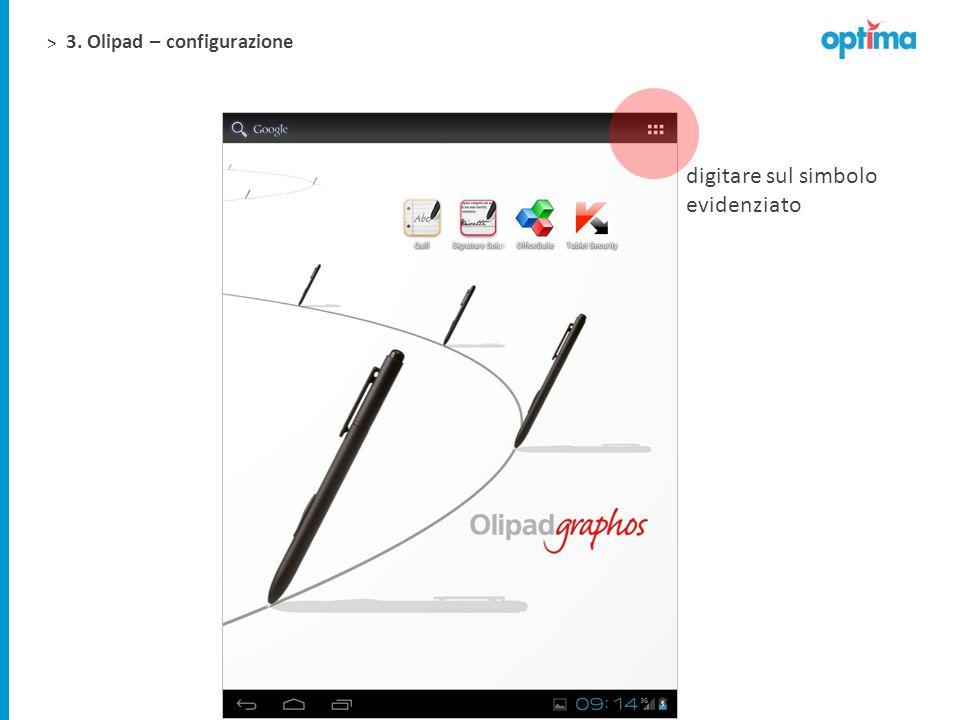 3. Olipad – configurazione