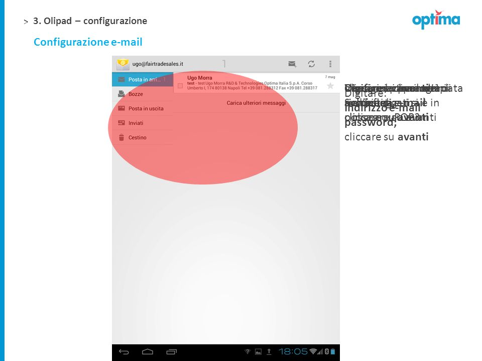 Configurazione e-mail