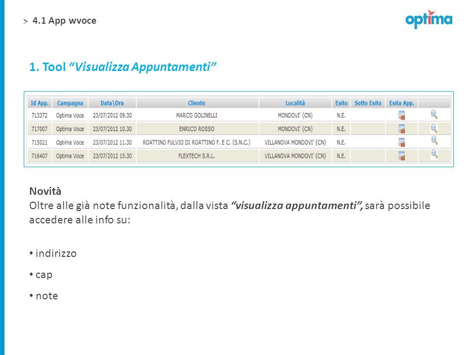 1. Tool Visualizza Appuntamenti