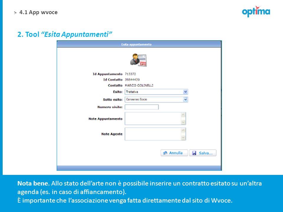 2. Tool Esita Appuntamenti