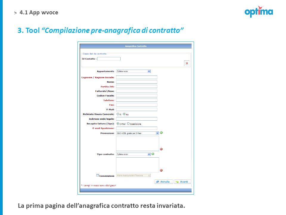 3. Tool Compilazione pre-anagrafica di contratto