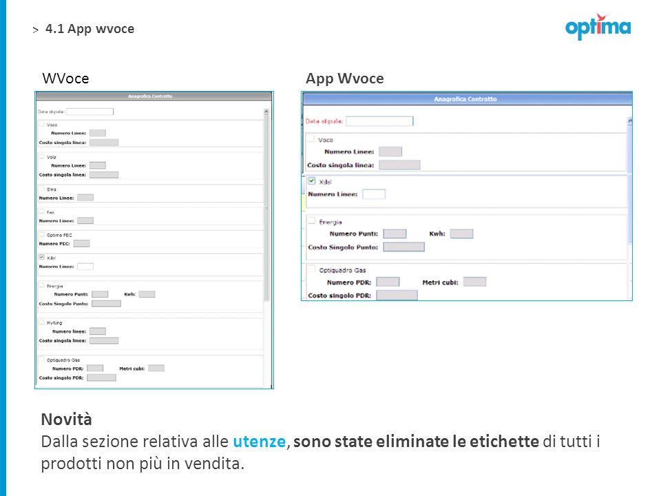 4.1 App wvoce WVoce. App Wvoce. Novità.