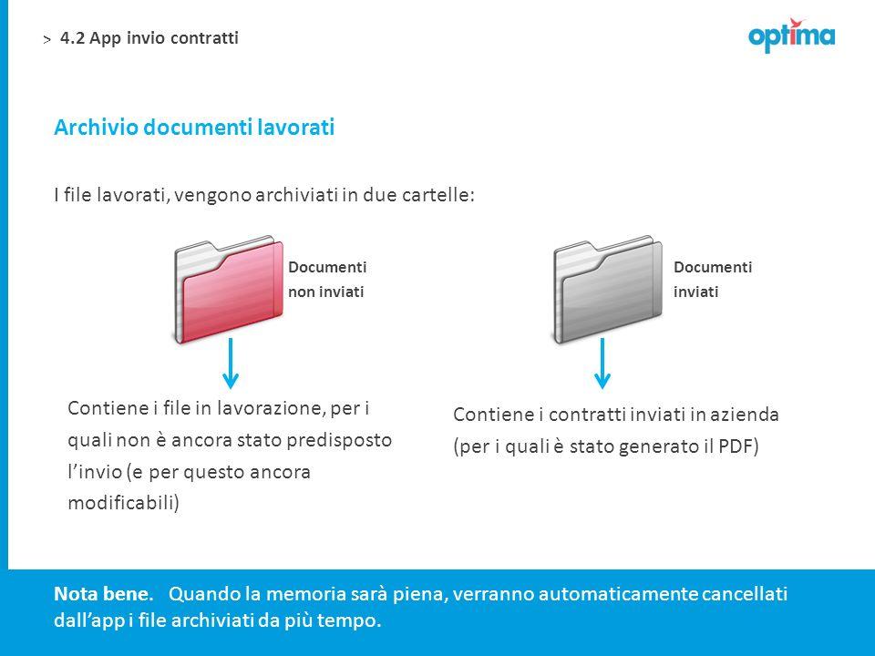 Archivio documenti lavorati
