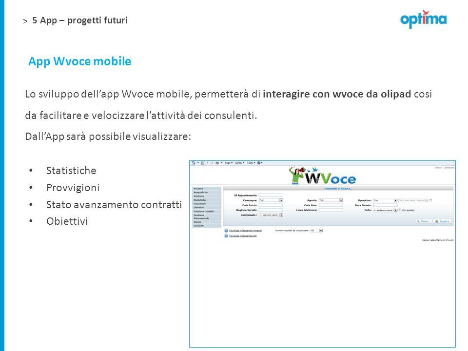 5 App – progetti futuri App Wvoce mobile.