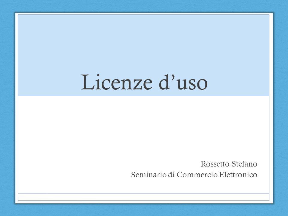 Rossetto Stefano Seminario di Commercio Elettronico