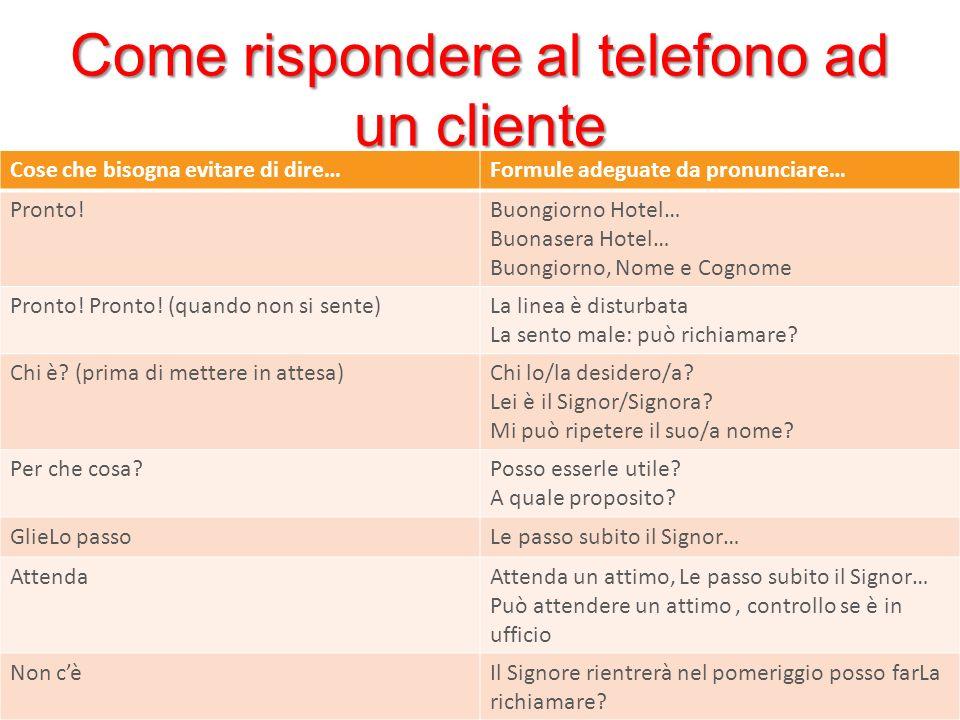 Come rispondere al telefono ad un cliente