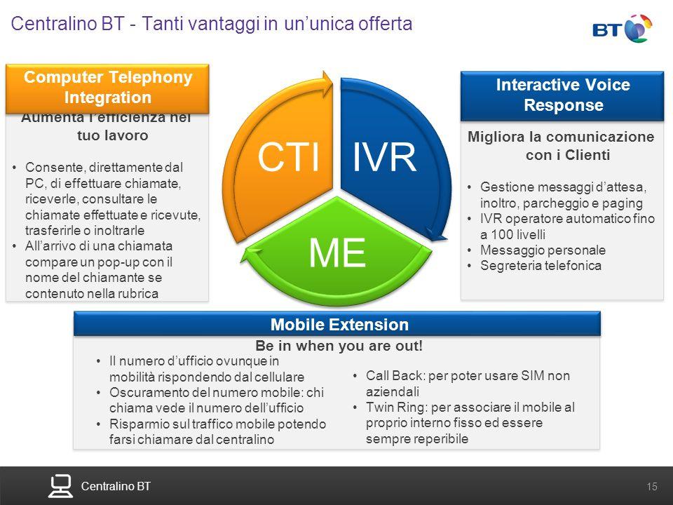 Centralino BT - Tanti vantaggi in un'unica offerta