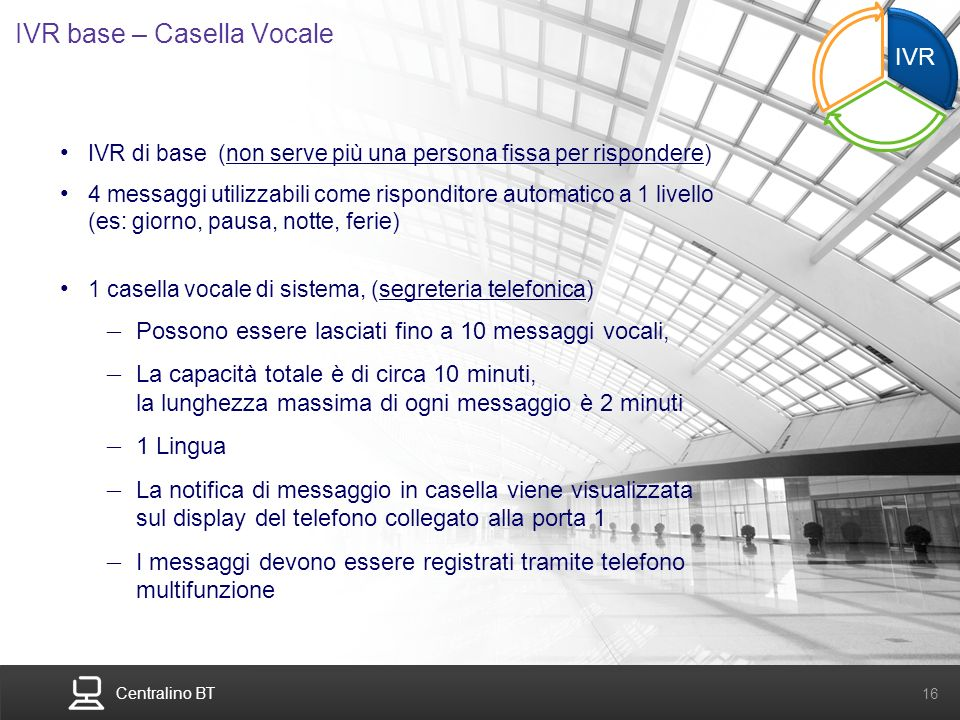 IVR base – Casella Vocale
