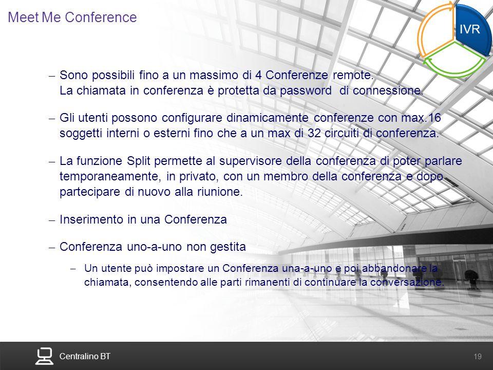 Meet Me Conference IVR. ME. CTI.
