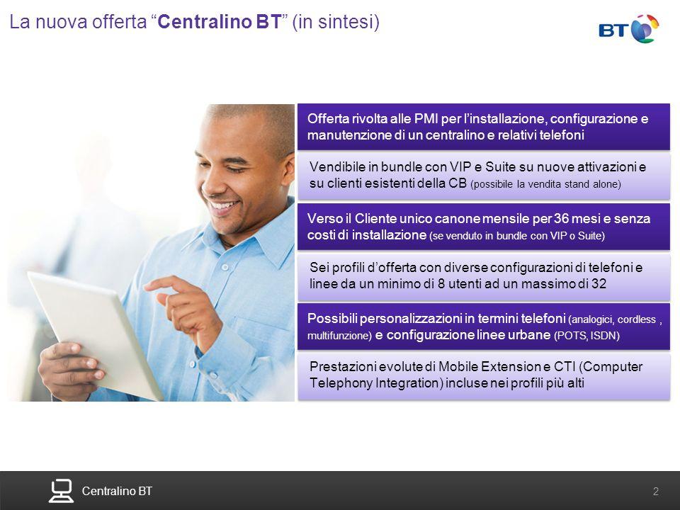 La nuova offerta Centralino BT (in sintesi)