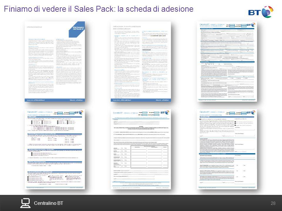 Finiamo di vedere il Sales Pack: la scheda di adesione