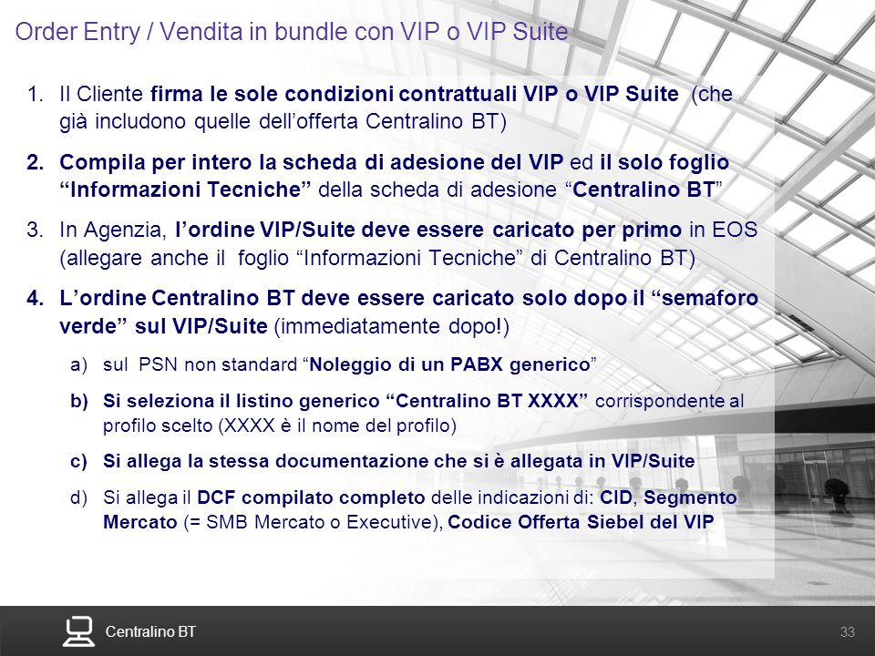 Order Entry / Vendita in bundle con VIP o VIP Suite
