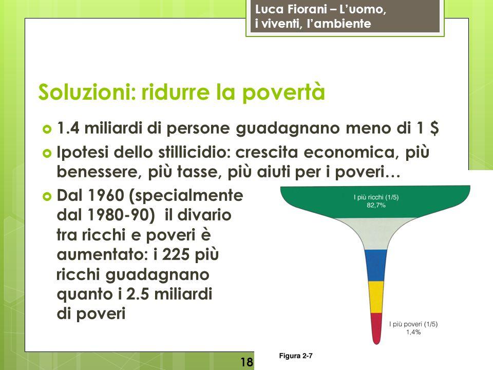 Soluzioni: ridurre la povertà