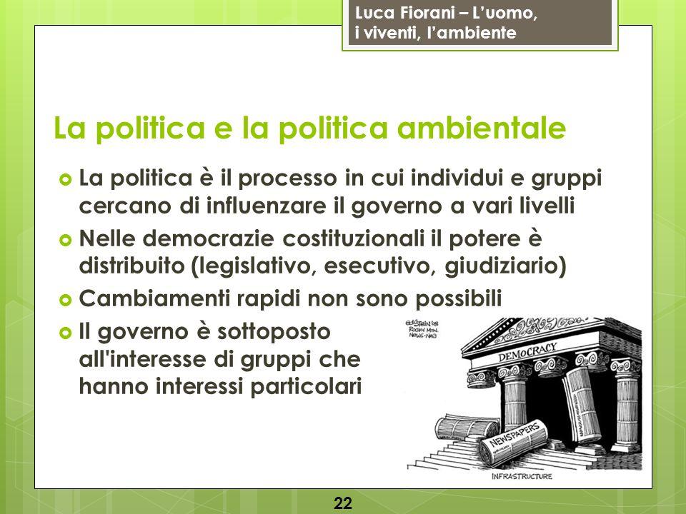 La politica e la politica ambientale