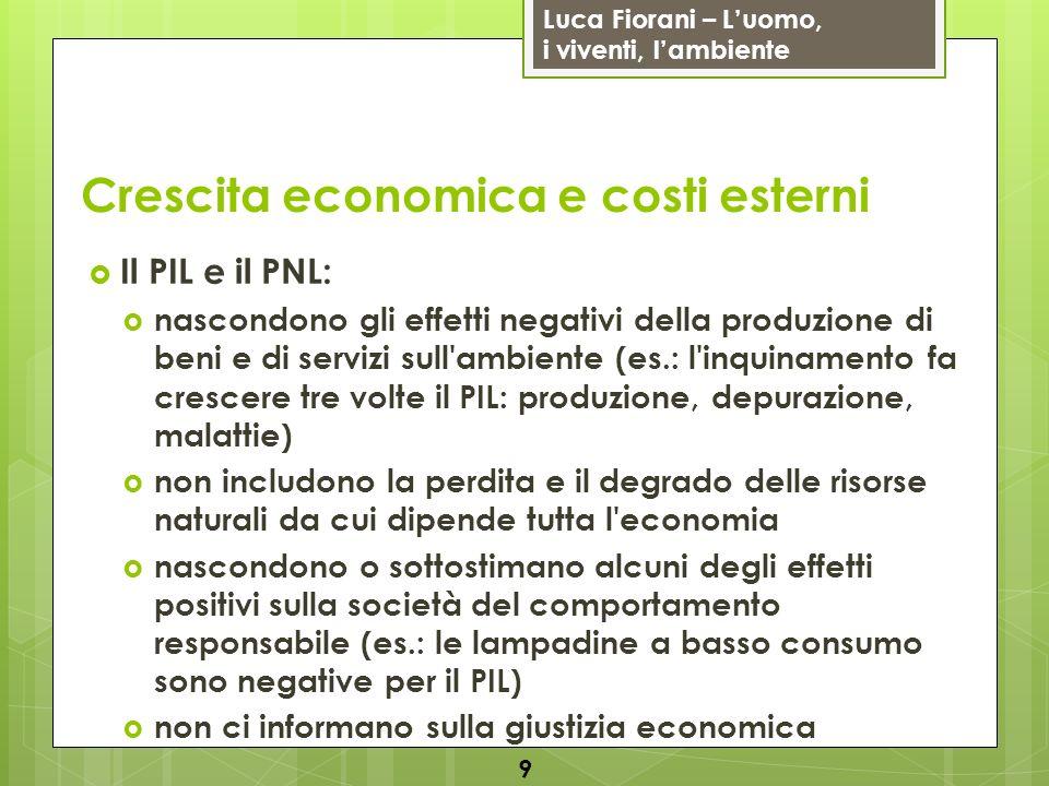 Crescita economica e costi esterni